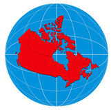 Map of the canada Stock Images