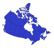 Map of canada Royalty Free Stock Image