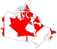 Map of Canada Stock Image
