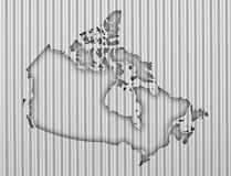 Map of Canada on corrugated iron Royalty Free Stock Photography