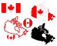 Map of Canada vector illustration