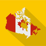 Map of Canada in national flag colors icon Stock Photography