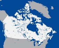 Map Canada (vector) Royalty Free Stock Photography
