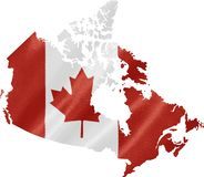 Map of Canada with Flag royalty free stock photos
