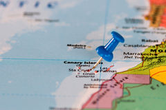 Map of Canary Islands Stock Photography