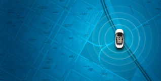 Map Car Navigation Royalty Free Stock Photography