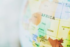 Map of Central Africa background toned image stock photography