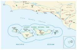 Map of the Channel Islands National Park Royalty Free Stock Images