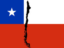 Map of Chile Stock Photos