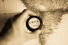 Map of Chile Royalty Free Stock Image