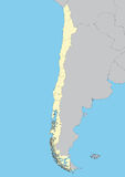 Map of Chile Royalty Free Stock Photography