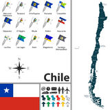 Map of Chile Stock Images