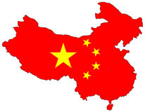 Map of China Royalty Free Stock Image