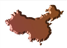 Map China chocolate vector illustration