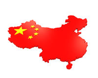 Map of China Royalty Free Stock Photography