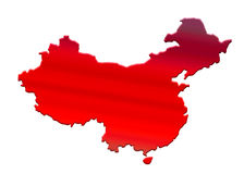 Map China stock illustration