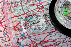 Map Cincinnati Stock Photo