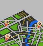 Map city Stock Photo