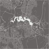 Map of the city of Canberra, Australian Capital Territory, Australia vector illustration