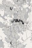Map of the city of Canberra, Australian Capital Territory, Australia stock illustration