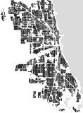 Map of the city of Chicago, USA. Vector map of the city of Chicago, USA Royalty Free Stock Photo