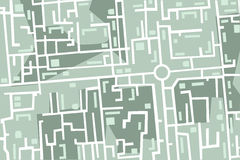 Map of the city. Editable map of the city with houses and roads vector illustration