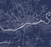 Map of the city of Frankfurt am Main, Hesse, Germany vector illustration