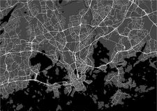 Map of the city of Helsinki, Finland. Vector map of the city of Helsinki, Finland Royalty Free Stock Photography