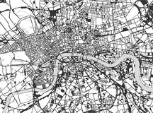 Map of the city of London, Great Britain stock illustration