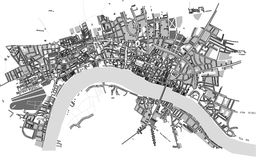 Map of the city of London, Great Britain Stock Photo