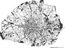 Map of the city of London, Great Britain. Vector map of the city of London, Great Britain Stock Photo