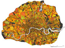 Map of the city of London, Great Britain Royalty Free Stock Images