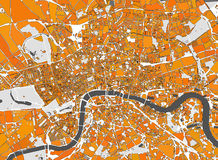 Map of the city of London, Great Britain Stock Photos