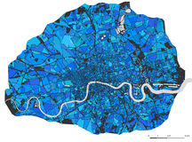 Map of the city of London, Great Britain Stock Images