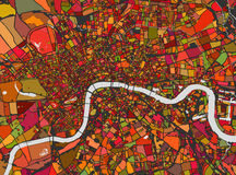 Map of the city of London, Great Britain Stock Image