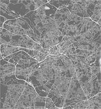 Map of the city of Manchester, England, Great Britain stock illustration