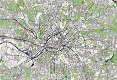 Map of the city of Manchester, England, Great Britain royalty free illustration