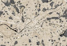 Map of the city of Manchester, England, Great Britain vector illustration