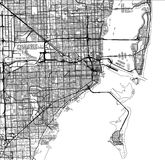 Map of the city of Miami, USA. Vector map of the city of Miami, USA Royalty Free Stock Image