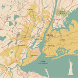 Map of the city of New York Royalty Free Stock Photography