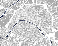 map of the city of paris france royalty free stock photography