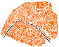map of the city of paris france royalty free stock photo