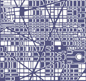 Map  city plan. Map of the city.   Editable vector street map of a fictional generic town. Abstract urban background Stock Photos
