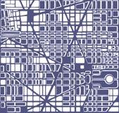 Map  city plan Stock Photos