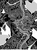 Map of the city of Rome, Italy Royalty Free Stock Photos