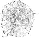 Map of the city of Rome, Italy. Vector map of the city of Rome, Italy Stock Image
