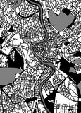 Map of the city of Rome, Italy. Vector map of the city of Rome, Italy Royalty Free Stock Photography
