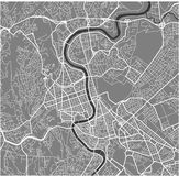 Map of the city of Rome, Italy Stock Photography