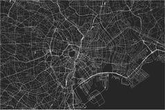 Map of the city of Tokyo, Kanto, Island Honshu, Japan. Vector map of the city of Tokyo, Kanto, Island Honshu, Japan vector illustration