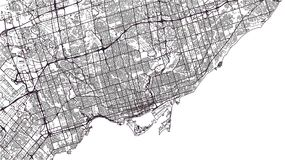 Map of the city of Toronto, Canada. Vector map of the city of Toronto, Canada Stock Images